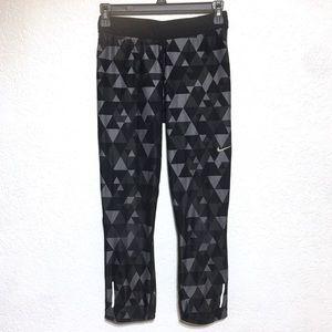 Nike Dri-Fit geometric print cropped running pants